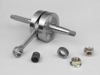 Crankshaft -MALOSSI MHR Big Bore 44mm stroke, 85mm conrod- Piaggio 50cc 2-stroke (for 13mm gudgeon pin)