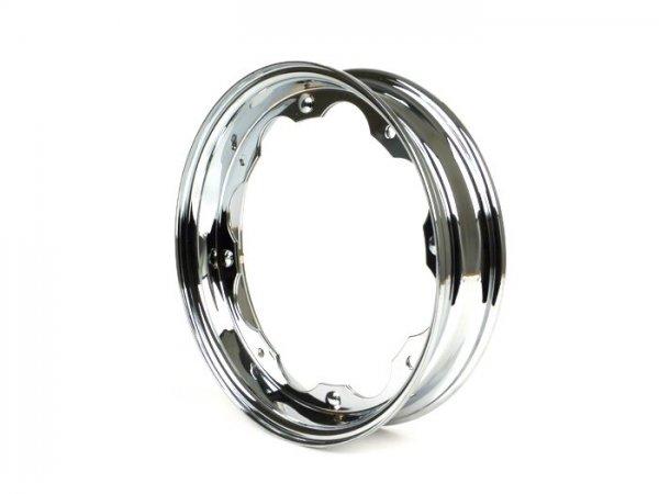 Wheel rim -BGM ORIGINAL- Lambretta LI (series 1-3), LI S, SX, TV (series 2-3) - chrome