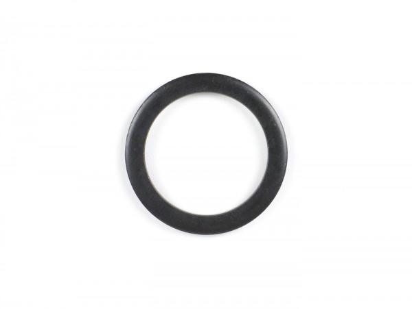 Spacer ring for bearing nut cover front axle -VESPA- 34x26x3mm - used for fork/fork link Rally180 (VSD1T), Rally200 (VSE1T), Sprint150 (VLB1T), TS125 (VNL3T), GT125 (VNL2T), GTR125 (VNL2T), GL150 (VLA1T), Super, VNA, VNB, VBA, VBB)