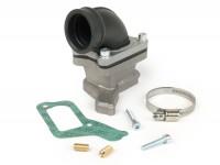 Collettore aspirazione - per valvola lamellare -MALOSSI lamellare X360- Vespa PX200 (VSX1T) - (compatibile anche con tutti gli altri motori Largeframe con una superficie di tenuta lunga per scatola carburatore)- attacco=34mm