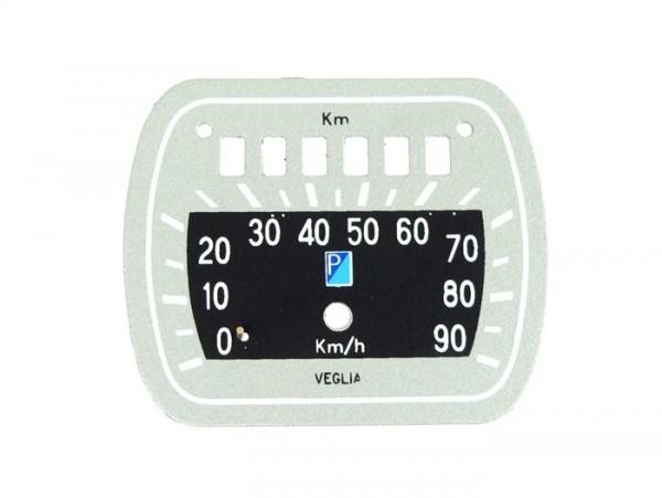 Speedo face -OEM QUALITY Typ Veglia- Vespa Wideframe V30, V33, VM, VN, VL