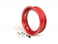 Wheel rim -FA ITALIA Sport tubeless 2.50-10 inch, aluminium-  Vespa (Cosa/SKR type) - red