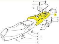 Porte bagages -PIAGGIO- Vespa GT (ZAPM31), Vespa GTL (ZAPM31)