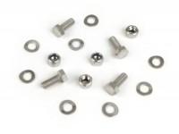 Kit tornillos para guardabarros trasero -MB DEVELOPMENTS acero inoxidable- Lambretta LI (series 1-2), TV (series 1-2)
