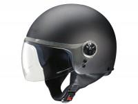 Helmet -FM-HELMETS RS11V (Made in Italy)- open face helmet flat black - M (57-58 cm)