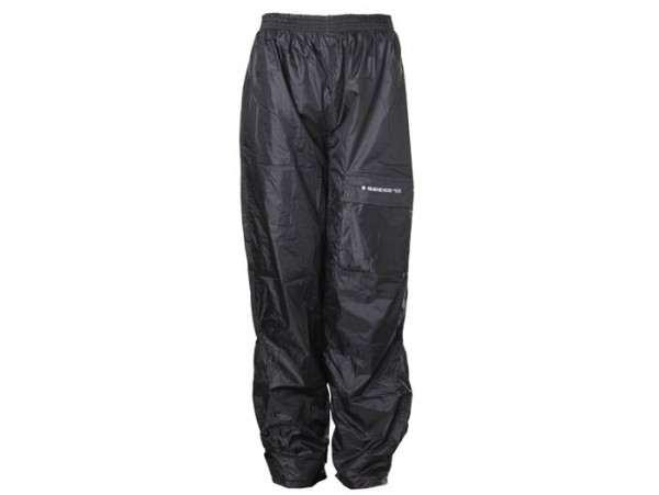 Waterproof trousers -SCEED 42- Nylon with thermo lining, black - 3XL