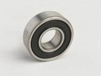 Ball bearing -6202 2RS (both sides sealed)- (15x35x11mm) - (used for front wheel/brake drum PX (1982-), T5 125cc, Cosa, PK, Gilera Fuoco, Piaggio Hexagon, MP3, Sfera, SKR, Quartz, Zip SP, Vespa ET2, ET4, GT125, GTS, GTV, LX