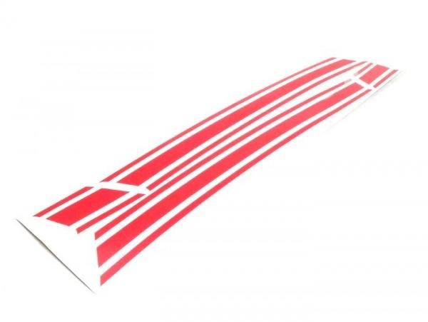 Aufkleber für Seitenhaube -LAMBRETTA- DL, GP - Rot