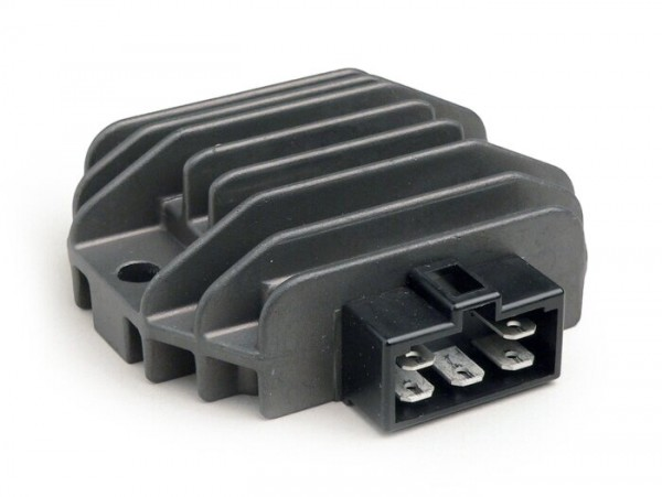 Spannungsregler -5-Pin 12V inkl. Blinkrelais- Vespa ET4 (ZAPM19), LX125-150, LXV125-150, S125-150, Primavera125-150, Sprint125-150, GT125-300, GTS125-300, GTV125-300, GTL125-200, Piaggio 50 ccm Purejet 2-Takt (Einspritzermodelle), 125-200 ccm Leader,