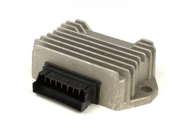Spannungsregler -OEM QUALITÄT- 8-Pin 12V inkl. Blinkrelais- Piaggio/ Gilera 50 ccm 2-Takt (Vergasermodelle, ab Bj. 1998), Vespa S, LX, LXV, Sprint 50, Primavera 50, ET4 125ccm (ZAPM04000 ab Bj. 1998), Aprilia Mojito Retro 125 ccm (ZD4PM Piaggio Motor