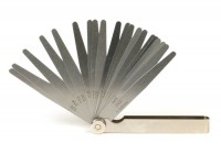 Fühlerlehre -UNIVERSAL- 20 Blatt, Metall - 0.05-1.00mm + 0.002-0.040 inch