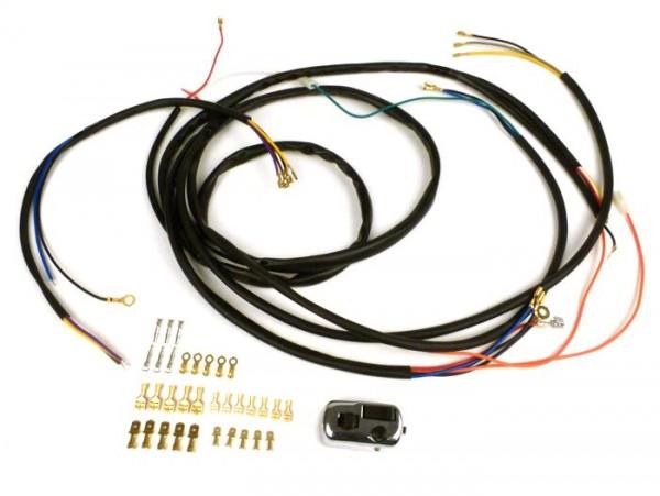 Kabelbaum-Set Conversion (inkl. Lichtschalter) -BGM PRO, Vespa AC Umrüstung auf Elektronische Zündung- Vespa Smallframe V50, 50N, PV125, ET3, Vespa Largeframe Sprint, Rally, TS, GT, GTR, GL, Super, GS160, SS180, VNA, VNB, VBA, VBB