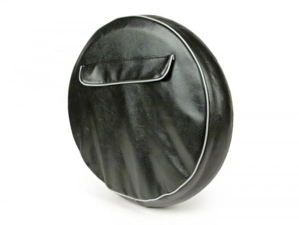 Funda rueda de repuesto -NISA Universal- 3.50 - 10 - negro, con bolsa -  refuerzo del borde gris, con bolsillo