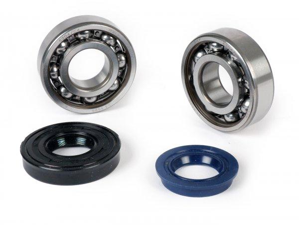 Kit rodamientos y retenes para cigüeñal -ATHENA- Minarelli 50 2T / CPI 50 2T