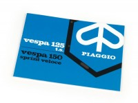 Owner's manual -VESPA- Vespa Sprint Veloce, TS (1975)