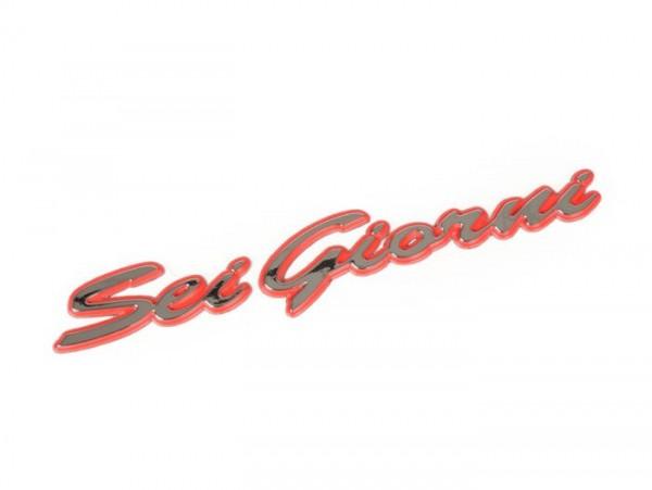 Schriftzug -VESPA, Sei Giorni- Vespa GTV 300 (ZAPMA3302), Vespa GTV HPE 300 (ZAPMA3602, ZAPMA362, ZAPMD3102)