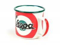 "Tazza - Emaille -Nostalgic Art- Vespa ""The Original Italian Classic"", Ø=8cm x 8cm, 360ml"