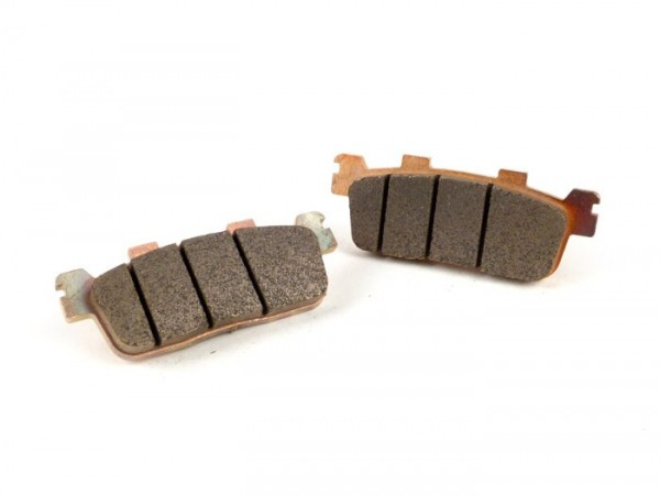 Brake pads -POLINI Sintered 94.0x36.1mm- Kymco People 125 GTI (BF25), Kymco People 200 GTI (BF40), Kymco People 250, Kymco X Citing 250, Kymco X Citing 300 I (2V)