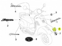 Kaskadengitterzierrippen -PIAGGIO- Vespa GTS 125-300 ie Super (ZAPM45)