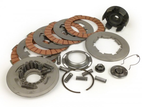Clutch -BGM PRO Superstrong- Vespa V50, V90, SS50, SS90, PV125, ET3, PK50, PK80, PK50 S, PK80 S, PK125 S, PK50 XL, PK50 XL2, PK125 XL, PK125 XL2, ETS, PK50 HP - incl. clutch pressure plate Vespa PK XL2