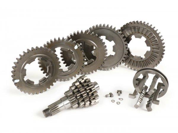 Getriebe -AF RAYSPEED Clo5e Ratio - 5 Gang- Lambretta LI, LIS, SX, TV (Serie 2-3), DL, GP - close ratio 1. 10/45, 2. 13/41, 3. 16/38, 4. 18/36, 5. 19/34 (langer 5. Gang)