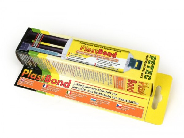 Plastic repair adhesive -PlastBond- 2-component, 24ml double syringe incl. mixing tube