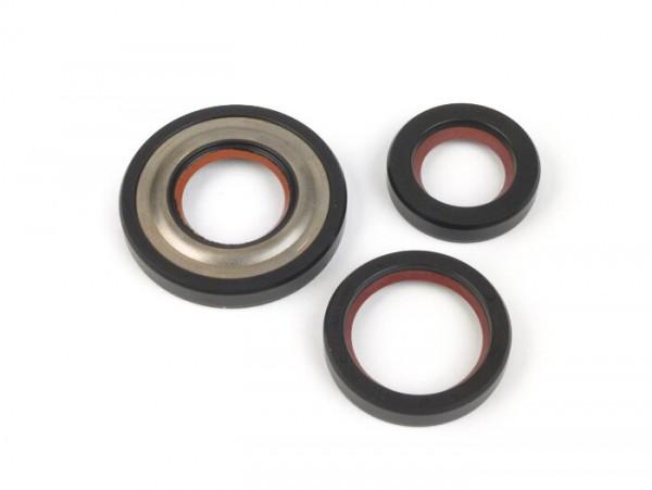 Wellendichtringsatz Motor -MALOSSI PTFE/FKM, 19mm Konus- Vespa V50, V90, SS50, SS90, PV125, ET3, PK S