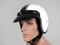 Helmet -BANDIT Classic Jet- white - M (57-58cm)