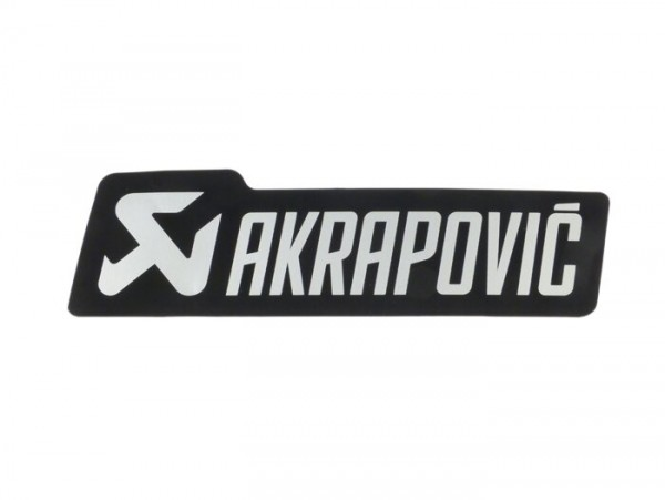 Sticker -AKRAPOVIC 135x40mm- heat resistant, for silencer Vespa GTS 125-300