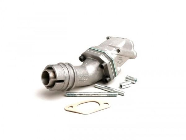 Colector de admisión - para caja de láminas -POLINI válvula de láminas 2 agujeros- Vespa V50 - Dellorto SHB Ø=16/16mm