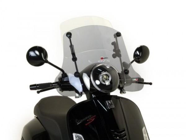 Windschutzscheibe -FACO 245-420x560mm, Twin Screen- Vespa GT, GTL, GTS, GTS Super 125-300ccm - verstellbar, inkl. Montagematerial