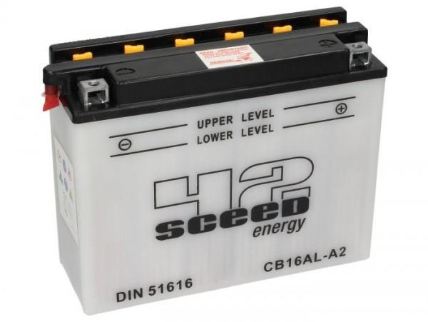 Batterie -Standard SCEED 42 Energy- CB16AL-A2 - 12V, 16Ah - 205x72x164mm (inkl. Säurepack)