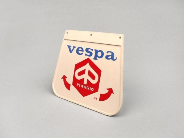 Rear mudflap -OEM QUALITY- red Piaggio emblem
