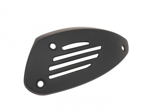 Auspuffblende -PIAGGIO- Vespa GTS 300 i.E. Super Notte, GTV300 Sei Giorni Euro4 (ZAPMA3302) - auch passend für Vespa GTS 125-300 - schwarz matt