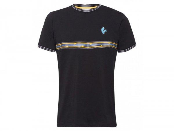 "T-Shirt -VESPA ""V-Stripes""- schwarz - L"