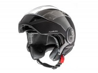 Helmet -HELMO MILANO- full jet helmet, FuoriRotta, matt black - XL (59cm)