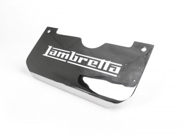 Splash plate center stand -LAMBRETTA with logo- LI (Serie 3), LIS, SX, TV (Serie 3), DL, GP - stainless steel