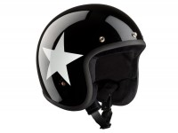 Helmet -BANDIT ECE Star Jet- black/white - XXL (63cm)