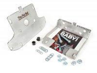 Porte roue de secours et batterie -CMD Fat Bat- Vespa PX, inox