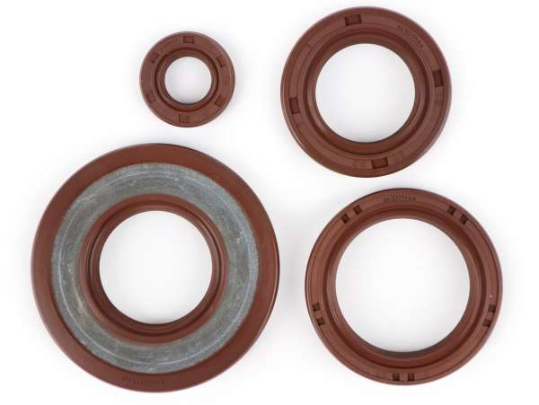 Oil seal set engine -BGM PRO, FKM/Viton® (E10/etahnol resistant)- Vespa Smallframe 20mm - PK50 XL, PK125 XL