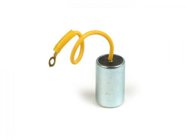 Kondensator -EFFE, Ø=20mm, h=31mm, µF 0,25, 1-Kabel- Vespa V50 N, V50 L, V50 R (1° Serie), V50 Special V5A2T (1° Serie), V50 V5B1T (1° Serie)