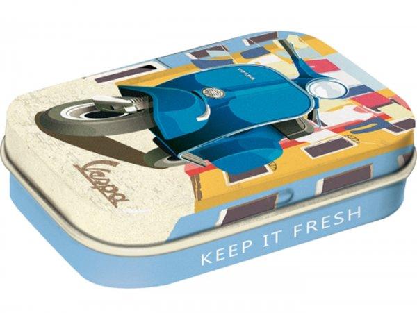 "Pillbox -Nostalgic Art- Vespa, ""Italian Laundry"" - 4x6x2cm"