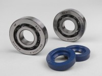 Bearing & oil seal set for crankshaft -OEM QUALITYL- Vespa Wideframe V1T, V15T, V30T, V33T