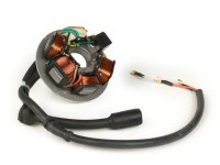 Ignition -Vespa stator- Vespa PK XL - 5 coils, 8-cable (round connector with 5-pin) - for vehicles with battery
