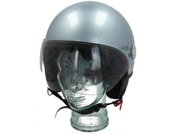Helmet -VESPA Visor 3.0- grigio delicato (G01) - XS (52-54cm)