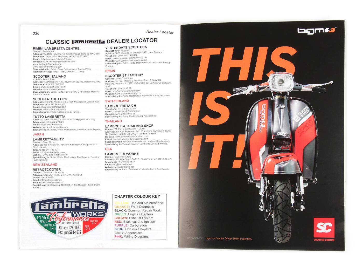 Buch Complete Spanners Manual Lambretta Third Edition Von Sticky 56 Vespa Scooter Wiring Schematic Bcher Literatur Center