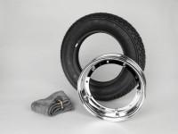 Reifen komplett Set -VESPA MICHELIN S83- 3.50 - 10 Zoll TL 59J (reinforced)- Felge 2.10-10