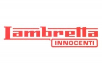 Sticker -LAMBRETTA Innocenti Lambretta 185x45mm- red
