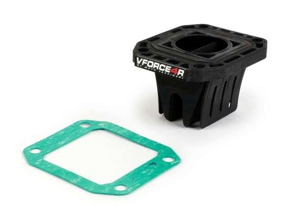 Membranblock -TASSINARI VForce 4 (77x63x45mm)- Honda CR80/CR85 (1989-2007) - auch passend für Quattrini M1L/M1XL, Malossi C-One, R-One