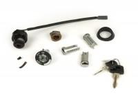 Steering lock / ignition switch set -VESPA- Vespa PK50 (V5X1T), PK50S (V5X2T), PK50S Lusso (V5X2T), PK50XL (V5X1T, V5X3T), PK80S (V8X5T), PK80S Lusso (V8X5T), PK125S (VMX5T), PK125XL (VMX6T), PX80 EFL (1984-) (V8X1T), PX125 EFL (1984-) (VNX